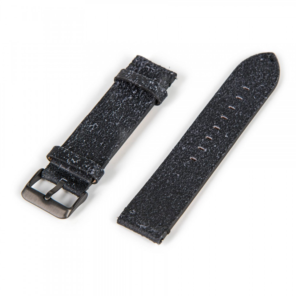 Oskron leather bracelet black